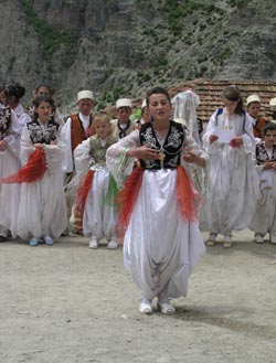 Schoolchildren in rural northern Albania keep traditions of song and dance alive.